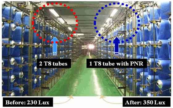 nano reflector efficiency